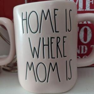 Rae Dunn Home is Where MOM Mug White